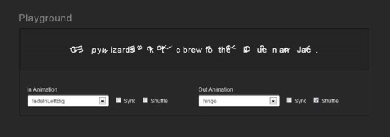 Textillate.js – A Plugin for CSS3 Text Animations