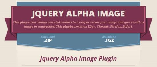jQuery Alpha Image Plugin